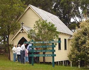 [St. James' Anglican church Byabarra, NSW, Australia.]